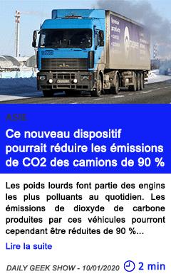 Technologie ce nouveau dispositif pourrait r c3 a9duire les c3 a9missions de co2 des camions de 90 25