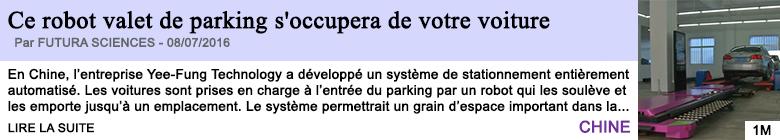 Technologie ce robot valet de parking s occupera de votre voiture