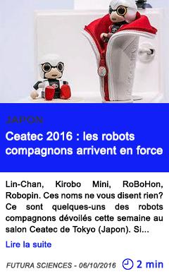 Technologie ceatec 2016 les robots compagnons arrivent en force