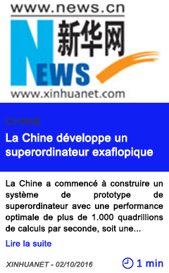 Technologie chine la chine developpe un superordinateur exaflopique