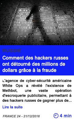 Technologie comment des hackers russes ont detourne des millions de dollars grace a la fraude publicitaire