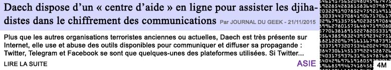 Technologie daech dispose d un centre d aide en ligne pour assister les djihadistes dans le chiffrement des communications