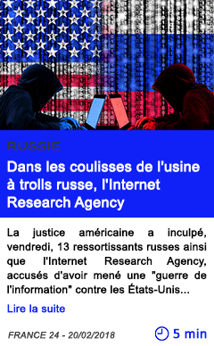 Technologie dans les coulisses de l usine a trolls russe l internet research agency