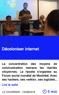 Technologie decoloniser internet