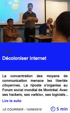 Technologie decoloniser internet