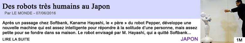Technologie des robots tres humains au japon