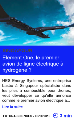Technologie element one le premier avion de ligne electrique a hydrogene page001