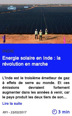 Technologie energie solaire en inde la revolution en marche