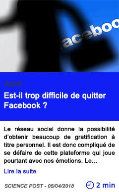 Technologie est il trop difficile de quitter facebook