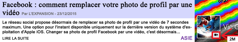 Technologie facebook comment remplacer votre photo de profil par une video