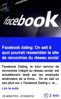 Technologie facebook dating on sait a quoi pourrait ressembler le site de rencontres du reseau social