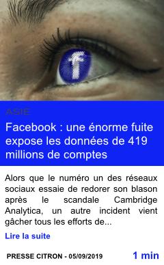 Technologie facebook une enorme fuite expose les donnees de 419 millions de comptes page001