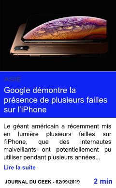 Technologie google demontre la presence de plusieurs failles sur l iphone page001