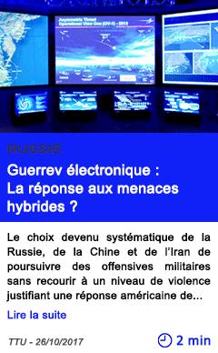 Technologie guerrev electronique la reponse aux menaces hybrides