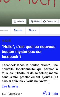 Technologie hello c est quoi ce nouveau bouton mysterieux sur facebook