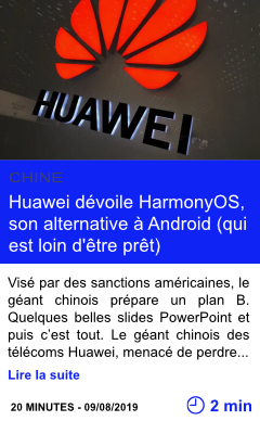 Technologie huawei devoile harmonyos son alternative a android page001