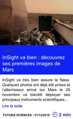 Technologie insight va bien decouvrez ses premieres images de mars page001