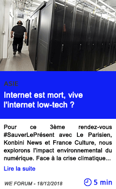 Technologie internet est mort vive l internet low tech