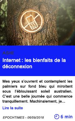 Technologie internet les bienfaits de la deconnexion