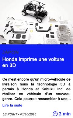 Technologie japon honda imprime une voiture en 3d