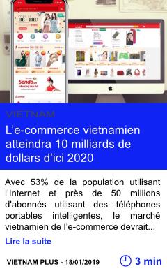 Technologie l e commerce vietnamien atteindra 10 milliards de dollars d ici 2020 page001