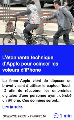 Technologie l etonnante technique d apple pour coincer les voleurs d iphone