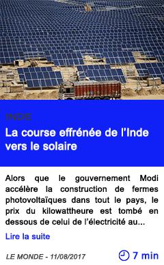 Technologie la course effrenee de l inde vers le solaire