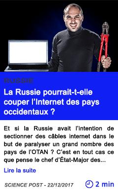 Technologie la russie pourrait t elle couper l internet des pays occidentaux