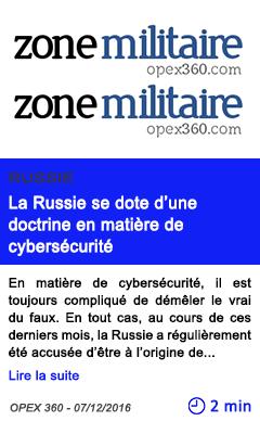 Technologie la russie se dote d une doctrine en matiere de cybersecurite