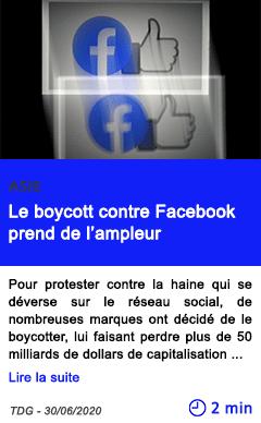 Technologie le boycott contre facebook prend de l ampleur