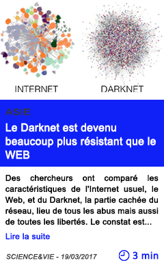 Technologie le darknet est devenu beaucoup plus resistant que le web