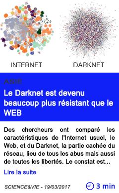 Technologie le darknet est devenu beaucoup plus resistant que le web