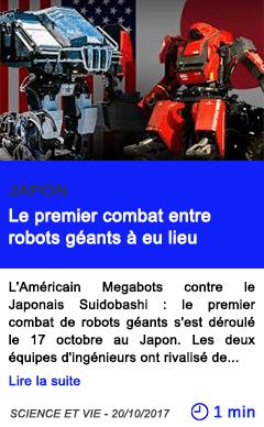 Technologie le premier combat entre robots geants a eu lieu