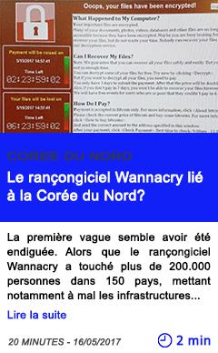 Technologie le rancongiciel wannacry lie a la coree du nord