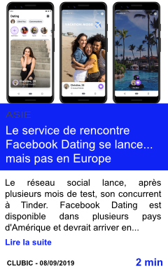 Technologie le service de rencontre facebook dating se lance mais pas en europe page001