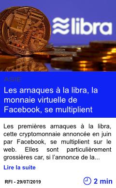 Technologie les arnaques a la libra la monnaie virtuelle de facebook se multiplient page001