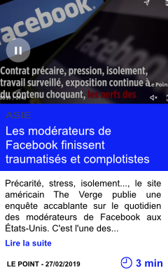 Technologie les moderateurs de facebook finissent traumatises et complotistes page001