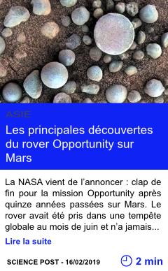 Technologie les principales decouvertes du rover opportunity sur mars page001