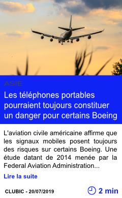 Technologie les telephones portables pourraient toujours constituer un danger pour certains boeing page001