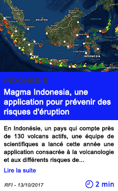 Technologie magma indonesia une application pour prevenir des risques d eruption