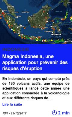 Technologie magma indonesia une application pour prevenir des risques d eruption