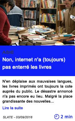 Technologie non internet n a toujours pas enterre les livres
