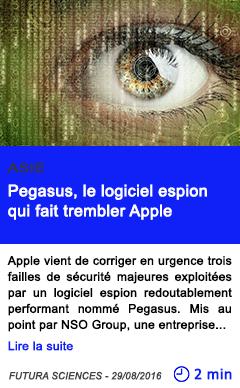 Technologie pegasus le logiciel espion qui fait trembler apple