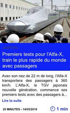 Technologie premiers tests pour l alfa x train le plus rapide du monde avec passagers page001
