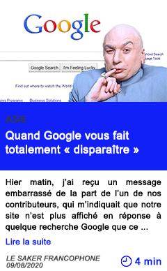 Technologie quand google vous fait totalement disparaitre