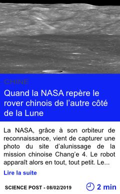 Technologie quand la nasa repere le rover chinois de l autre cote de la lune page001