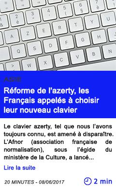 Technologie reforme de l azerty les francais appeles a choisir leur nouveau clavier