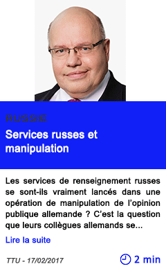 Technologie russie services russes et manipulation