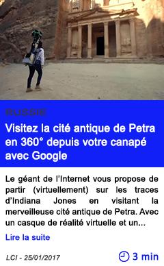 Technologie russie visitez la cite antique de petra en 360 depuis votre canape avec google