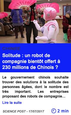 Technologie solitude un robot de compagnie bientot offert a 230 millions de chinois